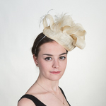 Pillbox Feather Bow Elastic Fascinator Cocktail Hats