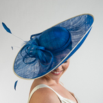 Large Side Swept Saucer Bow Sinamay Headband Fascinator Cocktail Hats