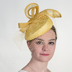 Buntal Straw Pillbox Elastic Fascinator Cocktail Hats