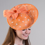 Polkadot Sinamay Headband Fascinator Cocktail Hats