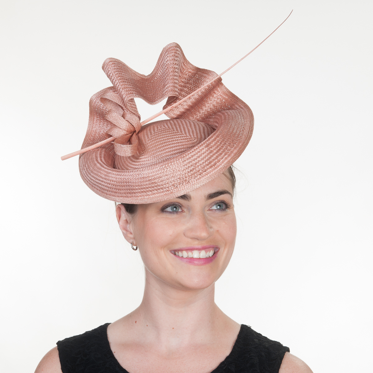 Latte Buntal Straw Elastic Fascinator Cocktail Hats 102048