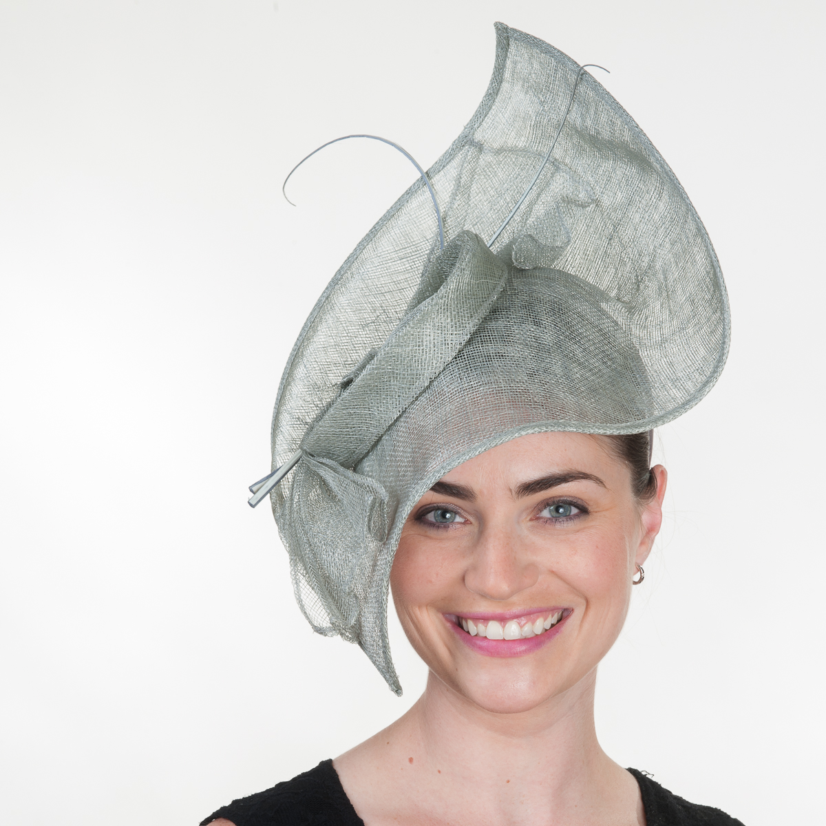 Silver Moden Sinamay Headband Fascinator Cocktail Hats