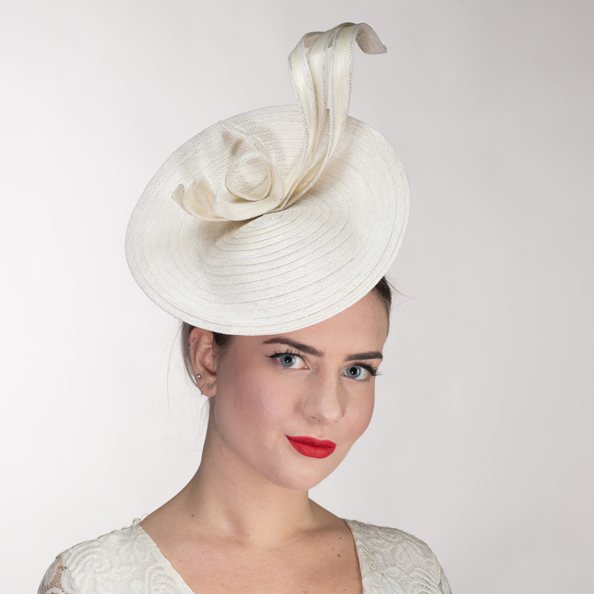 79dc536c7a251 White Twist Ribbon Sinamay Braid Disc Headband Fascinator Cocktail Hats-102055-WT-  Sun Yorkos