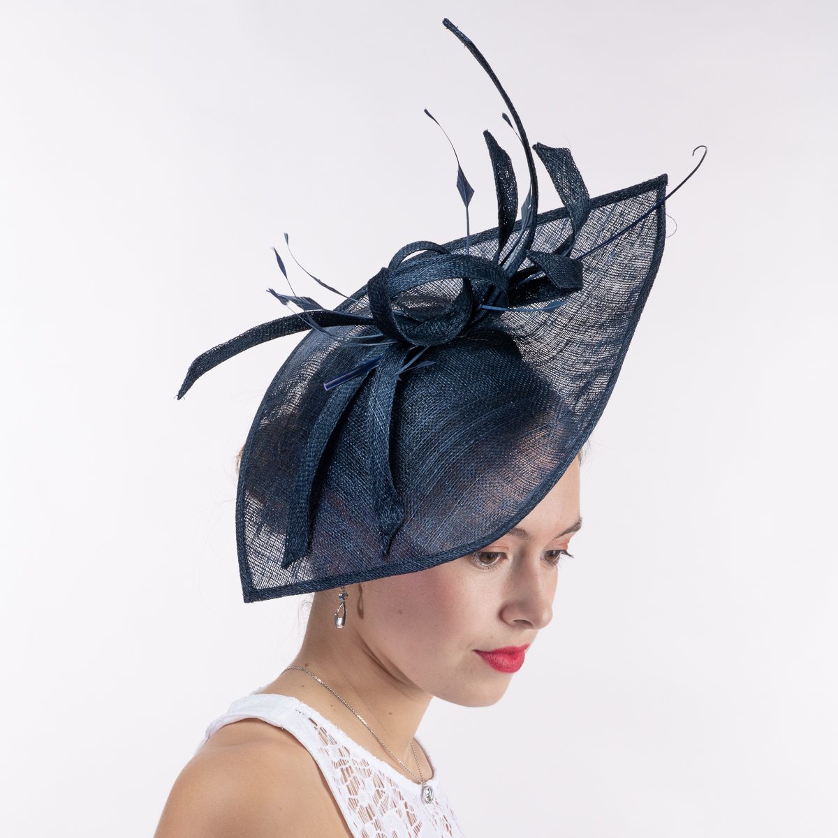 f11c1d0d34089 Greg Bourdy Navy And Taupe Wedding Hats