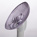 Lilac / White Saucer Sinamay Headband Fascinator Cocktail Hats