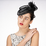 Black  Sinamay Quill Pointed Headband Fascinator Cocktail Hats