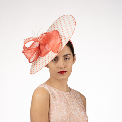 Polka Dot Sinamay Headband Fascinator Cocktail Hats