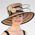 Large Brim Two Tone Swirl Detail Hats