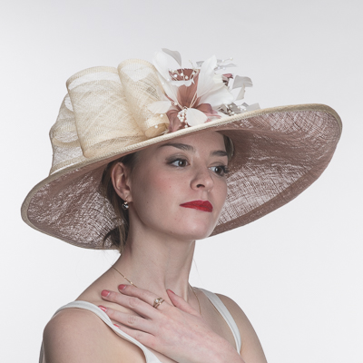 Large Brimmed Swirl Detail Hats