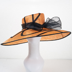 Large Brim Side Sweep Feather Flower And Bow Hats