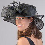 Down Brimmed Feather Bow Hats