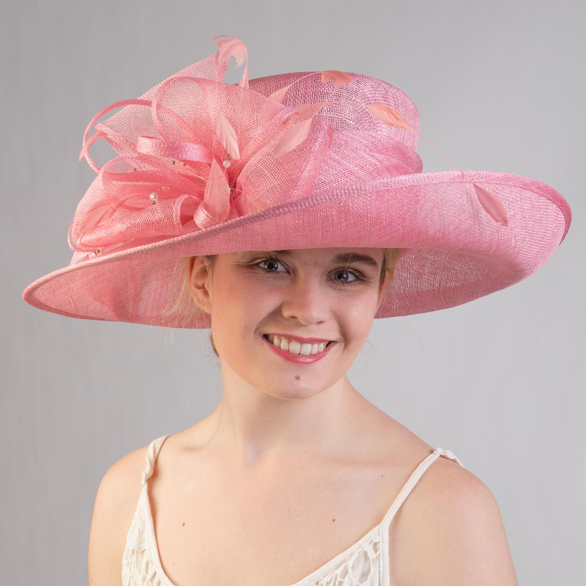 Pink Large Off Face Sinamay Hat 102571 Pk Sun Yorkos