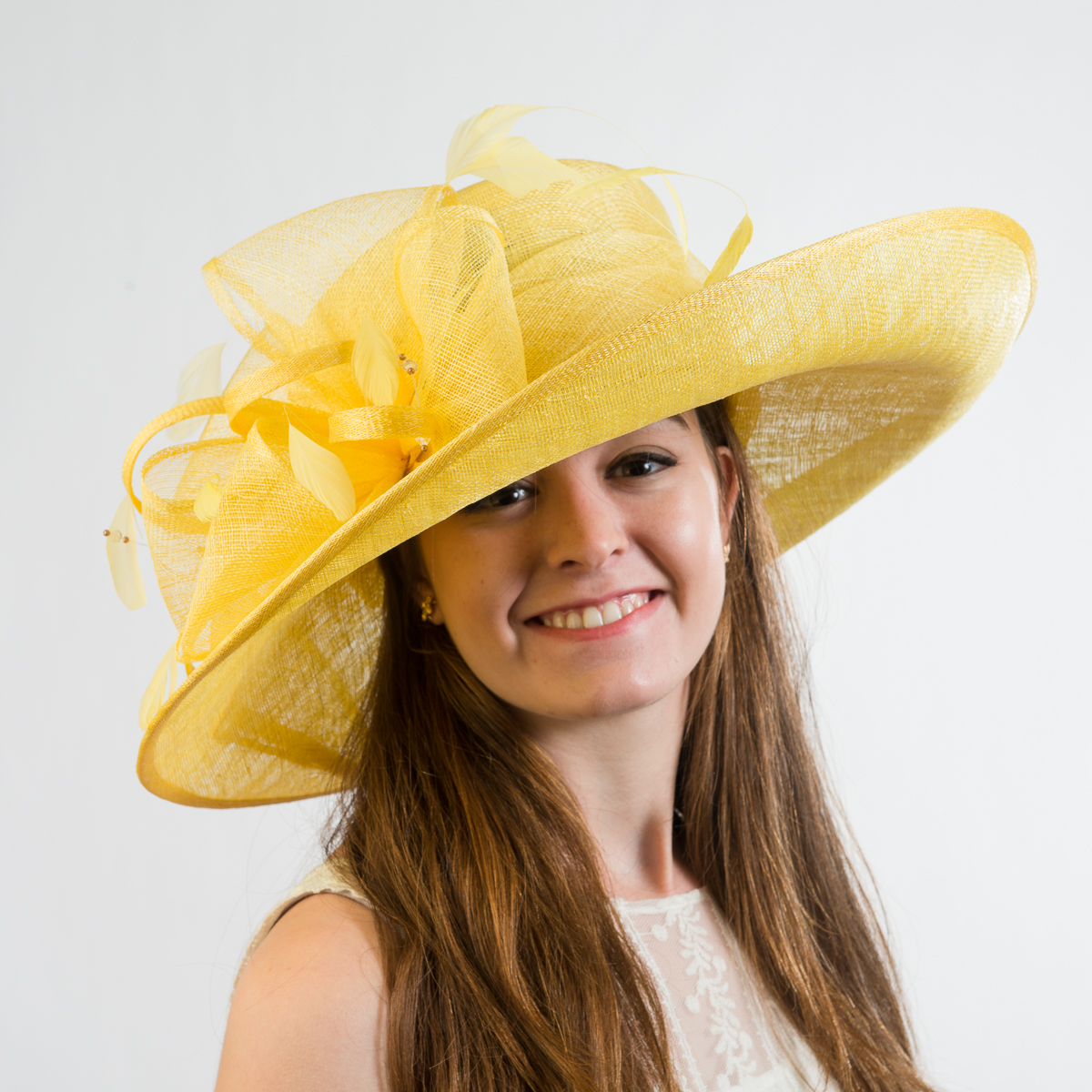 Yellow Large Off Face Sinamay Hat 102571 Yl Sun Yorkos Kakyco