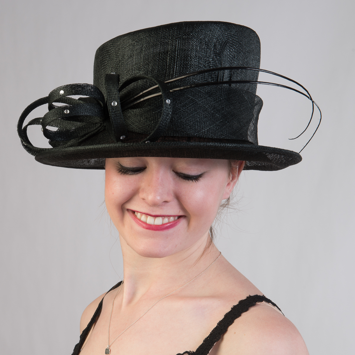 c5361d16c764c3 Black Roayl Queen Sinamay Hat-102572-BK- Sun Yorkos | KaKyCo Accessories