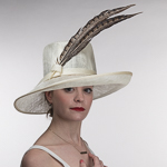 Wesern Style Sinamay with Pheasant Feather Hats