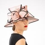 5c65aaea1560d Latte Black Lamp Pointed Crown Sinamay Hats