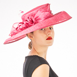 Wide Twist Bow Side Sweep Down Sinamay Hats