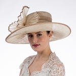 Women's Pleated Decor Side Upturned Hat