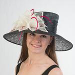 657d28575dc18 Black Iv Fu Large Lampshape Sinamay Hat
