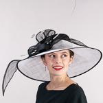02c42e6a6595c Black   White Wide 2 Tone Sinamay Salor Hats