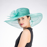 Callalily Adorned 2 Tone Wide Soft Sinamay Hats