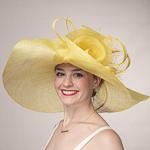 9f7881557c51c Yellow Rose Veil Trim Off Face Floppy Sinamay Hats