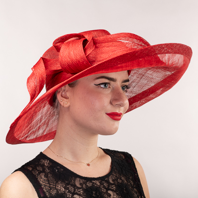 Twised Knotted Sidesweep Sinamay Dress Formal Hat