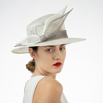 Knotted Trim Sinamay Dress Formal Hat