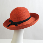 Madagascar Raffia Elastic ribbon trim Hats