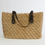 Honey And Brown Large Crochet Raffia Bag