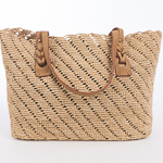 Natural Large Crochet Raffia Bag