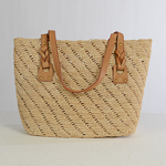 Natural Medium Crochet Raffia Bag