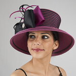 Two-Tones Taffeta Bow Sun Protection Hats