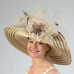 Beige / Taupe Two-Tones Swinger Sun Protection Straw Hats