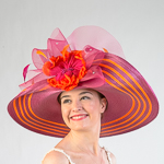 Fuchsia   Orange Two-Tones Swinger Sun Protection Straw Hats 59dc5272d60d