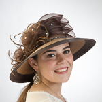 Bronze / Brown Two-Tones Multilevel Bow Sun Protection Straw Hats