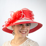 White / Red Two-Tones Multilevel Bow Sun Protection Straw Hats