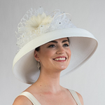 White Feather Flower With Veil Sun Protection Straw Hats b0e7911f0a71