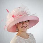 Pink Up Brim Crin Trim Sun Protection Straw Hats