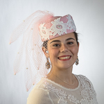 Lace With Veiling Strip Pillbox Hats