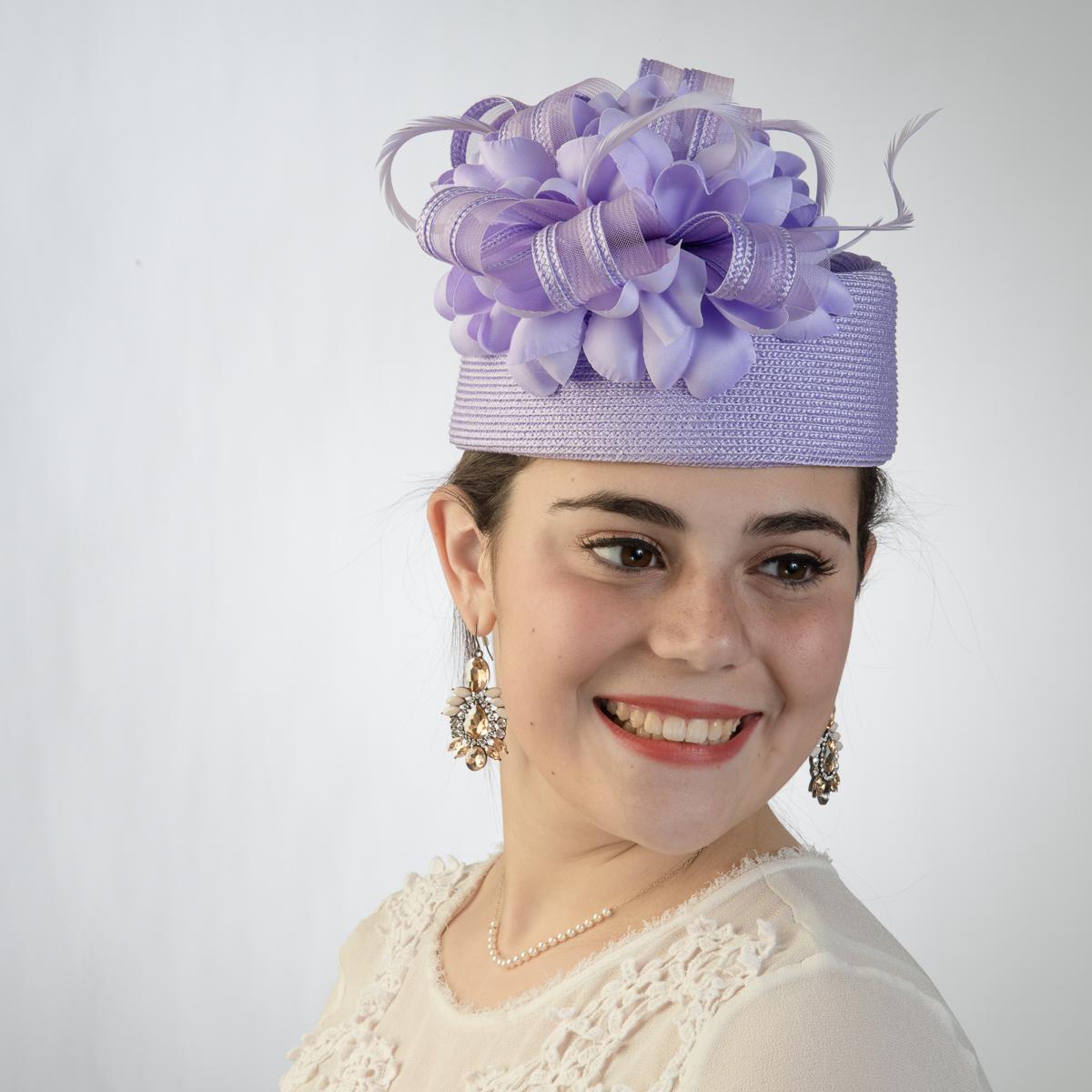 Lilac Ribbon Bow Pillbox Hats-301783-LL- Sun Yorkos  a21e71bdf7a