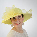 Light Yellow Beautiful Wave Trim Sun Protection Straw Hats
