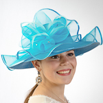 Beautiful Wave Trim Sun Protection Straw Hats