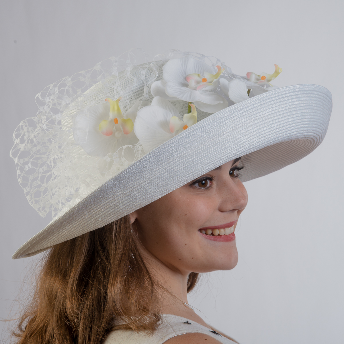 05aaac9a6f2ac White Large Poly Straw Off Face Hat-301804-WT- Sun Yorkos