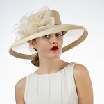 Ribbon Ribbon Bow Crinoline Brim Poly Straw Hats