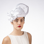 Veil Trim Bubble Pillbox Poly Straw Church Hats