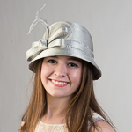 Small Satin Ribbon Cloche Hats