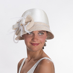 Satin Poly Cloche Hats