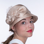Shiny Satin Ribbon Cloche Hats