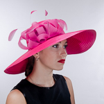 Color Satin Taffeta Off-The-Face Church Hats